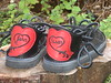 Susan is in Love!!<br /> Black Four Tab with Embroidered Applique Heel, Thin Cushi Midsole, Spikeless Golf Vibram Soling