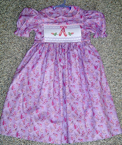 yoke dress with ballet slippers smocked and my toes