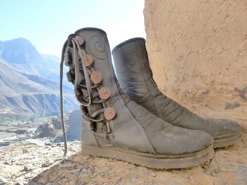Well, not quite on feet.. but just off feet and about to be back on!   Brother John and his wonderful boots traveled to Peru and did some amazing journeys together.  Many blessings as you wander your path.  I am honored.