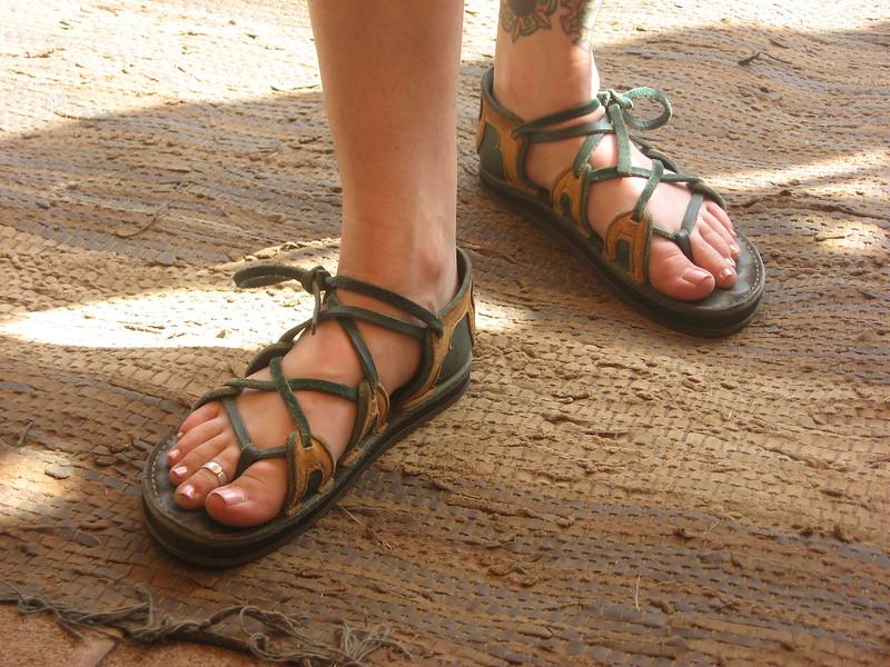 Four tab sandals.