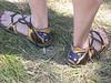 Butterfly sandals on Jane's beautiful feet!