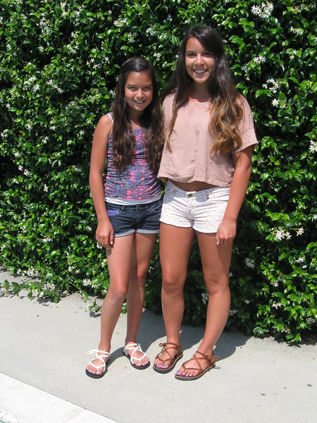 My lovely neices, Melissa and Hannah, and their fun new shoes.  So happy that they are happy!