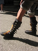 Pirate boots in motion!