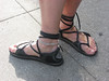 Two Tab Sandals with Long Laces - Donna's traveling feet!