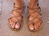 Four Tab Sandals - many roads...