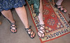 Four Tab Sandals in action.