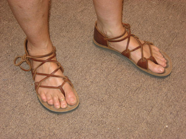 Dancing feet - four tab sandals can last through many a festival!