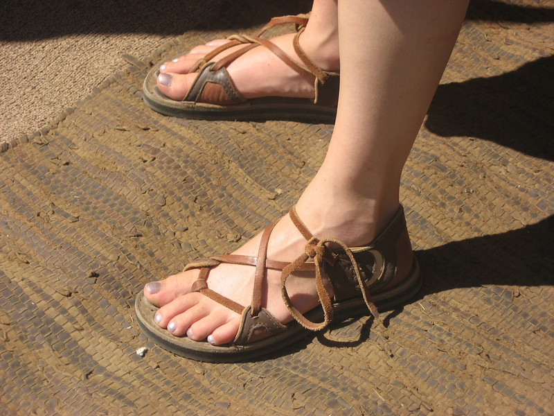 Two tab sandals.