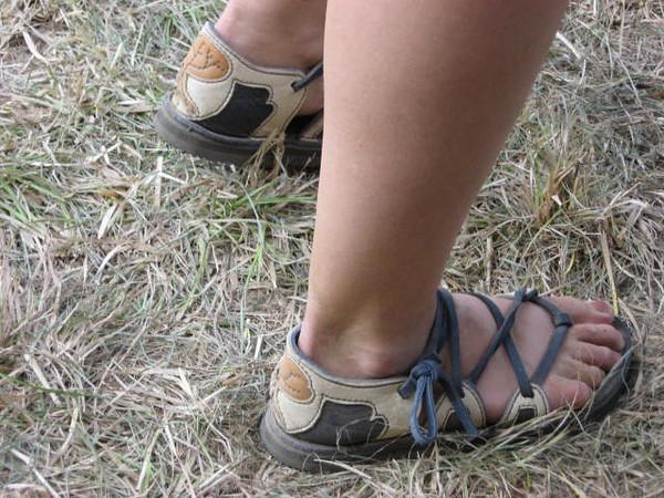 Four tab sandals dancing their way through life...