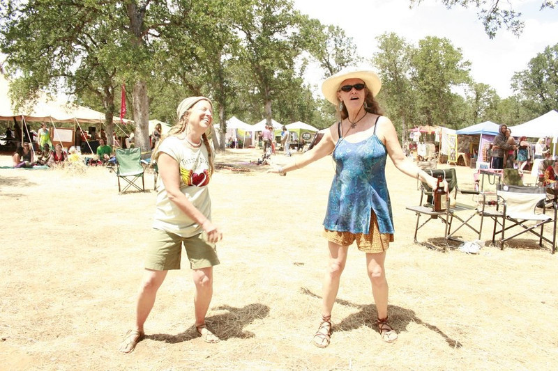 "Eartha and Maggie are devoted wearers of custom made sandals.  These beautiful women like to feel the earth and DANCE!  Here they are at the Freedom Dance held every year near Flournoy, California, on Memorial Day weekend.  Check out  <a href=""http://www.reverbnation.com/venue/tehamagoldorganicolivefarm"">http://www.reverbnation.com/venue/tehamagoldorganicolivefarm</a>"