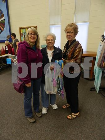 Left to right: Linda Bohn, Rowena Halligan, and Pam Sanders