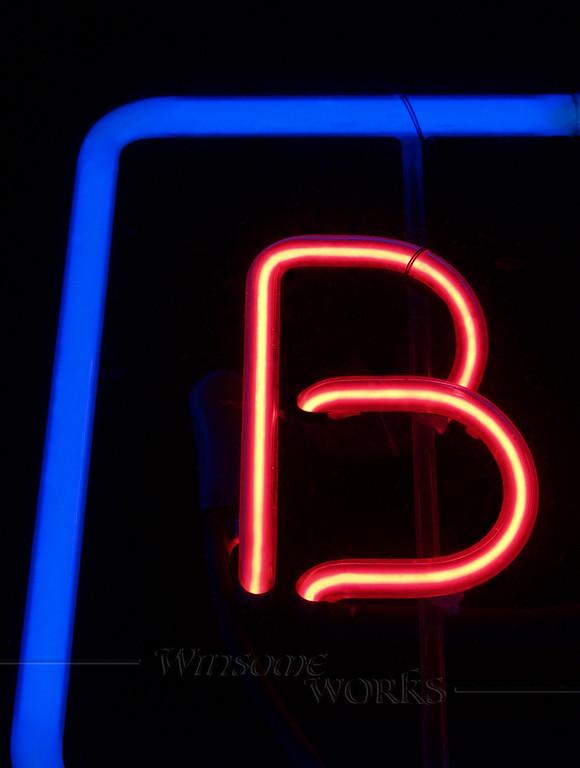 """Neon Letter """"B"""""""