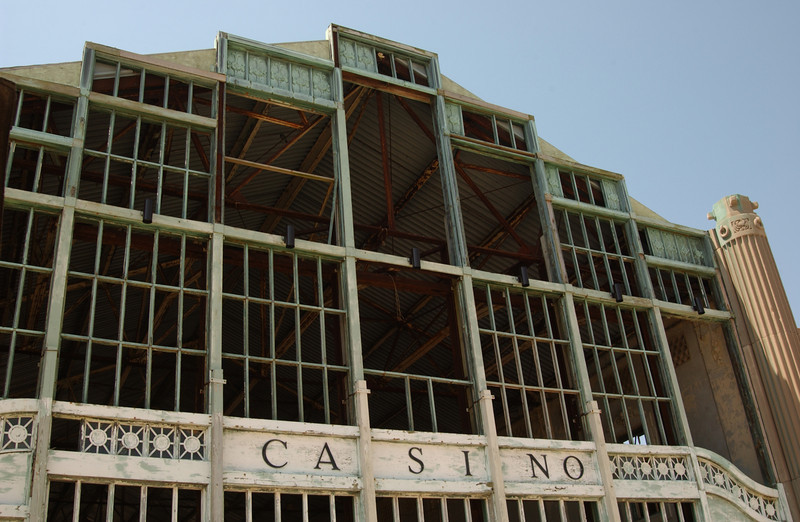 Remains of the old casino building in Asbury Park