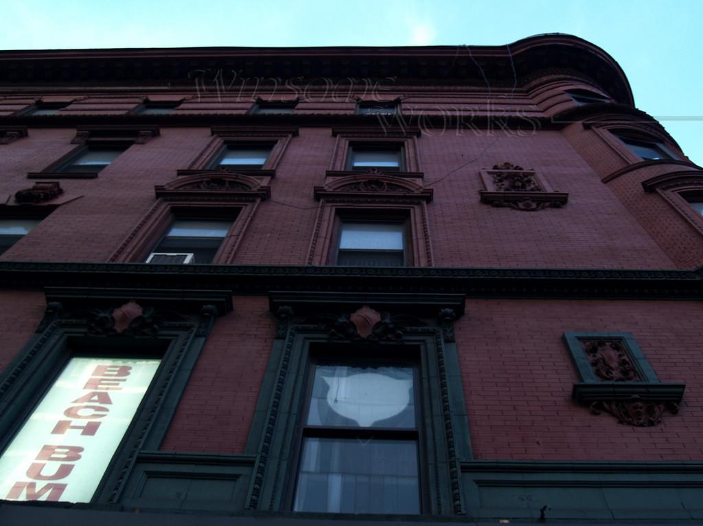 """""""Beach Bum"""" sign on Upper East Side Manhattan building"""