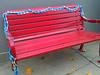 Yarn bombing in Art Alley - Goshen, IN