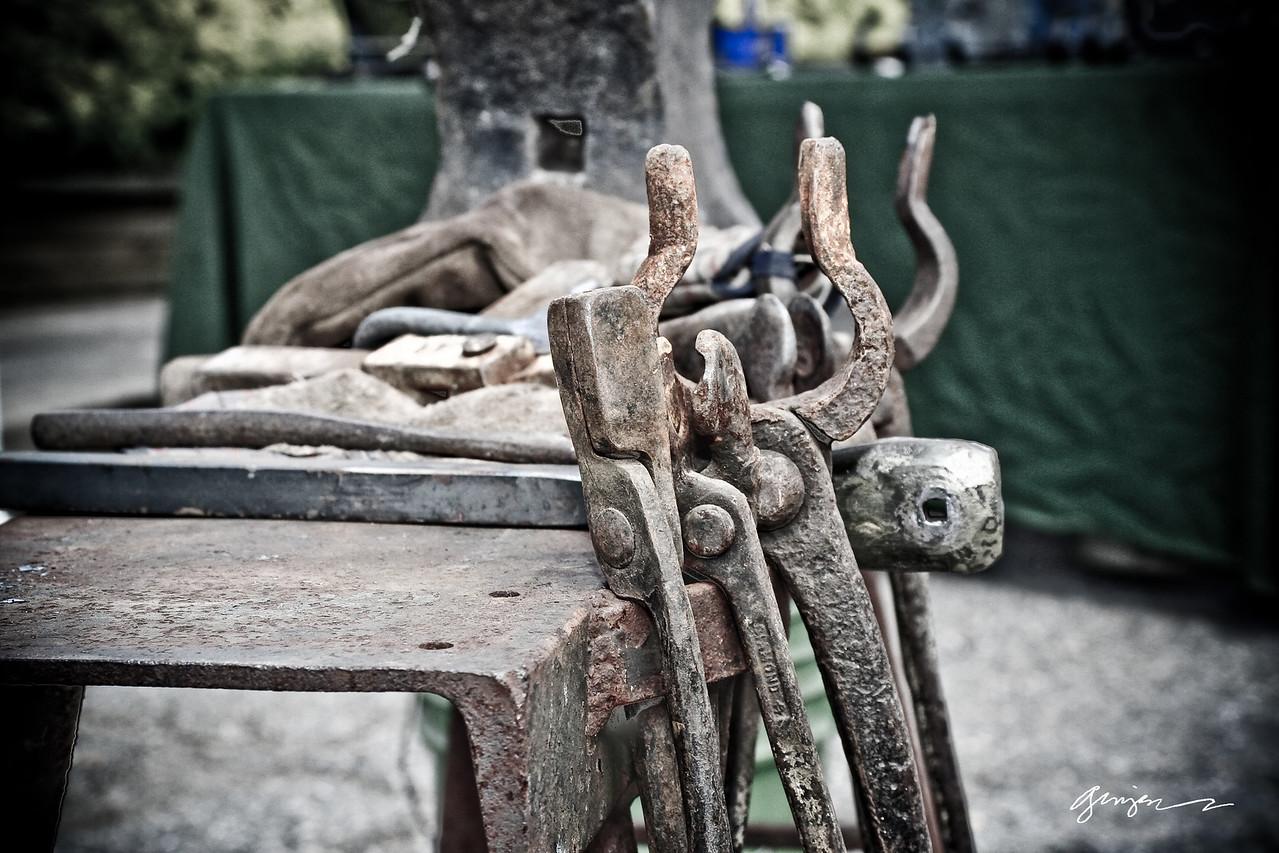 Tools of a blacksmith.
