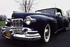 1947 Midnight Blue Lincoln Rag-top on Moody Day