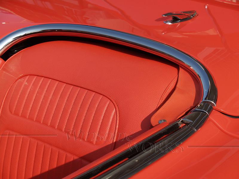 1958 Corvette seat and partial interior