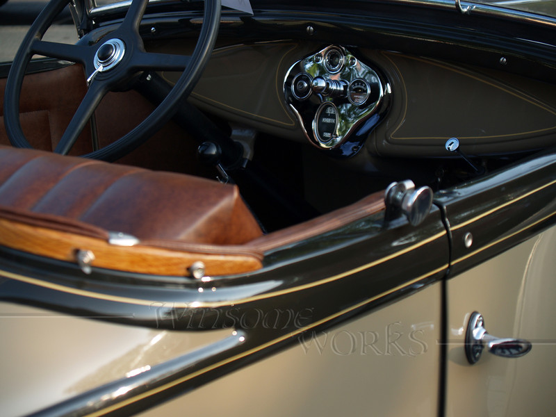 1930 Ford Roadster door and dash