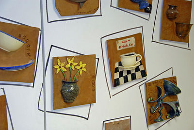 Pottery exhibit at Spuill Center for the Arts