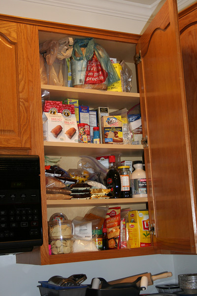The baking cabinet, where I keep all my specialty flours, mixes, and other things.