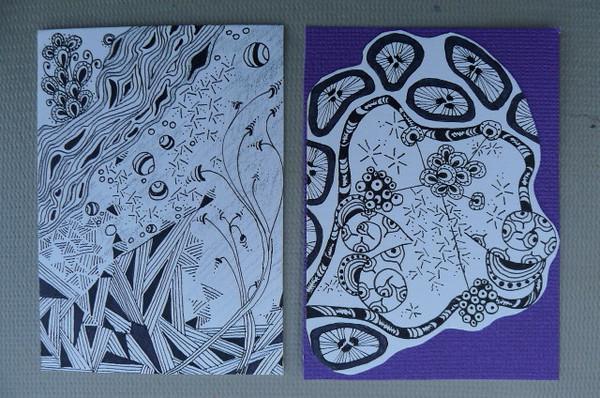 zentangle #32 & #34