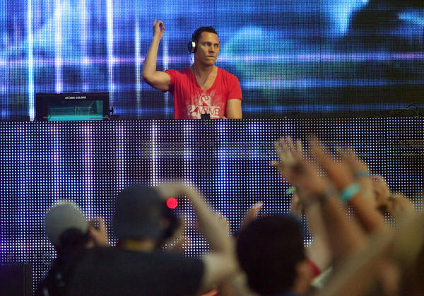 Tiesto is seen here performing at the RBC Royal Bank Bluesfest in Ottawa on Wednesday, July 4, 2012. The Ottawa Bluesfest is ranked as one of the most successful music events in North America. The Canadian Press Images PHOTO/Ottawa Bluesfest/Patrick Doyle.