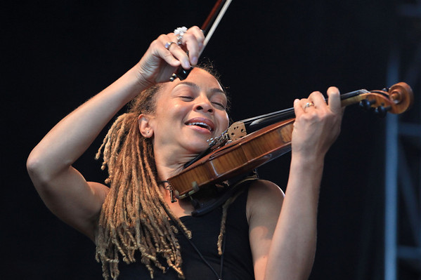 Fiddle player Ann Harris is seen here performing with Otis Taylor at the Cisco Ottawa Bluesfest on Saturday, July 18, 2009. The Ottawa Bluesfest is ranked as one of the most successful music events in North America. Patrick Doyle/Ottawa BluesFest/The Canadian Press Images.