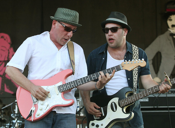 (L to R) Tony D and Steve Marriner of the band MonkeyJunk perform at the Cisco Ottawa Bluesfest on Wednesday, July 7, 2010. The Ottawa Bluesfest is ranked as one of the most successful music events in North America. The Canadian Press Images PHOTO/Ottawa Bluesfest/Patrick Doyle.