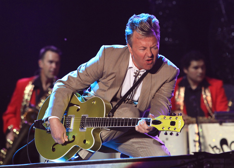 The Brian Setzer Orchestra performs at the Cisco Ottawa Bluesfest on Saturday, July 11, 2009. The Ottawa Bluesfest is ranked as one of the most successful music events in North America. Patrick Doyle/Ottawa BluesFest/The Canadian Press Images.