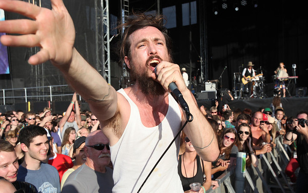 Edward Sharpe of the band Edward Sharpe & The Magnetic Zeros performs at the Cisco Ottawa Bluesfest on Tuesday, July 5, 2011. The Ottawa Bluesfest is ranked as one of the most successful music events in North America. The Canadian Press Images PHOTO/Ottawa Bluesfest/Patrick Doyle.