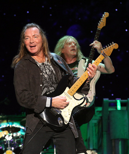 (L to R) Guitarists Dave Murray and Janich Gers of the band Iron Maiden perform at the Cisco Ottawa Bluesfest on Tuesday, July 6, 2010. The Ottawa Bluesfest is ranked as one of the most successful music events in North America. The Canadian Press Images PHOTO/Ottawa Bluesfest/Patrick Doyle.