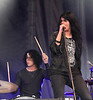 Jack White (L) and Alison Mosshart are seen here performing with cutting-edge band The Dead Weather on the final night of the Cisco Ottawa Bluesfest on Sunday, July 19, 2009. The Ottawa Bluesfest is ranked as one of the most successful music events in North America. Patrick Doyle/Ottawa BluesFest/The Canadian Press Images.
