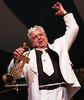 Maynard Ferguson leading his Big Band at the Jazz fest. Photo by Patrick Doyle.