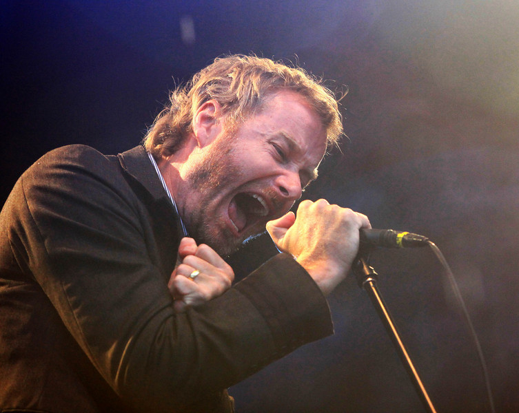Matt Berninger of the band The National seen here perfoming at Cisco Ottawa Bluesfest on Wednesday, July 15, 2009. The Ottawa Bluesfest is ranked as one of the most successful music events in North America. Patrick Doyle/Ottawa BluesFest/The Canadian Press Images.