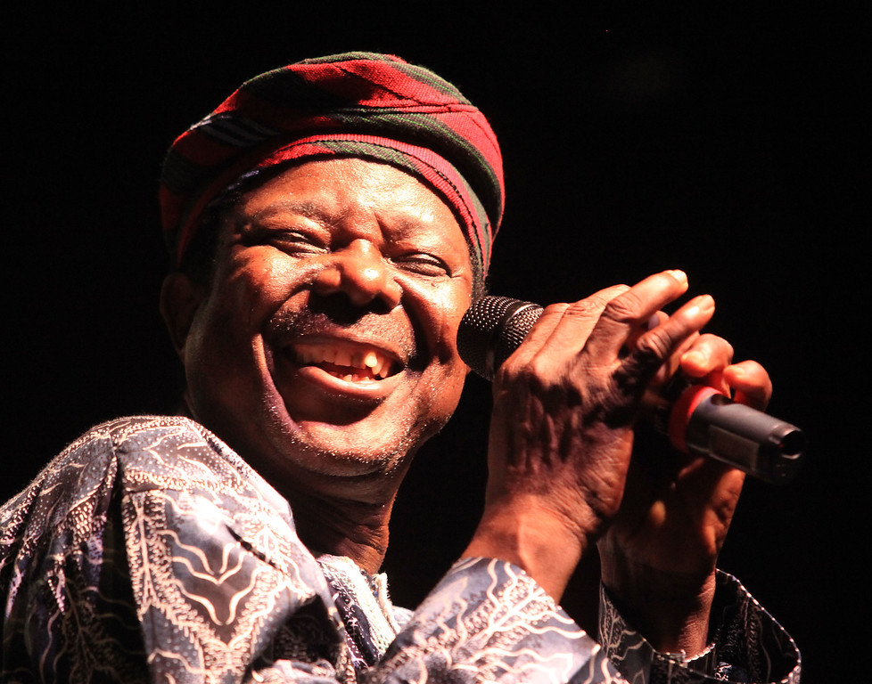 King Sunny Ade of King Sunny Ade and his African Beats performs at the Cisco Ottawa Bluesfest on Friday, July 10, 2009. The Ottawa Bluesfest is ranked as one of the most successful music events in North America. Patrick Doyle/Ottawa BluesFest/The Canadian Press Images.