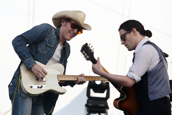 Conor Oberst (R) and David Rawlings are seen here performing at the RBC Royal Bank Bluesfest in Ottawa on Friday, July 6, 2012. The Ottawa Bluesfest is ranked as one of the most successful music events in North America. The Canadian Press Images PHOTO/Ottawa Bluesfest/Patrick Doyle.