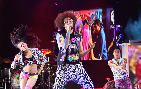 Redfoo of LMFAO is seen here performing at the RBC Royal Bank Bluesfest in Ottawa on Thursday, July 5, 2012. The Ottawa Bluesfest is ranked as one of the most successful music events in North America. The Canadian Press Images PHOTO/Ottawa Bluesfest/Patrick Doyle.