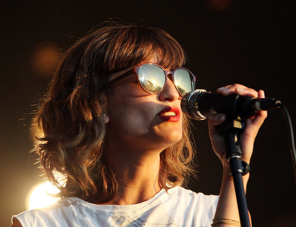 Martina Sorbara of the band Dragonette is seen here performing at the RBC Royal Bank Ottawa Bluesfest on Wednesday, July 5, 2012. The Ottawa Bluesfest is ranked as one of the most successful music events in North America. The Canadian Press Images PHOTO/Ottawa Bluesfest/Patrick Doyle.