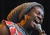 5/20/2001. Antibalas. Lead singer Duke Amayo. Photo by Patrick Doyle.