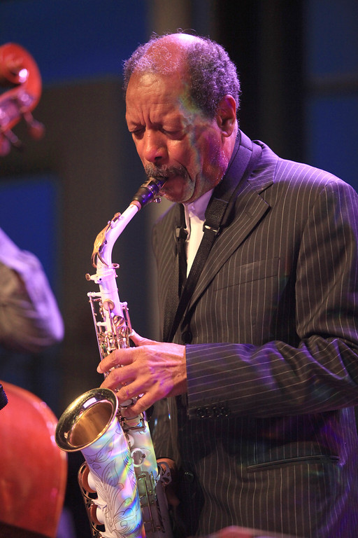 Ornette Coleman performs at the Cisco Ottawa Bluesfest on Saturday, July 11, 2009. The Ottawa Bluesfest is ranked as one of the most successful music events in North America. Patrick Doyle/Ottawa BluesFest/The Canadian Press Images.