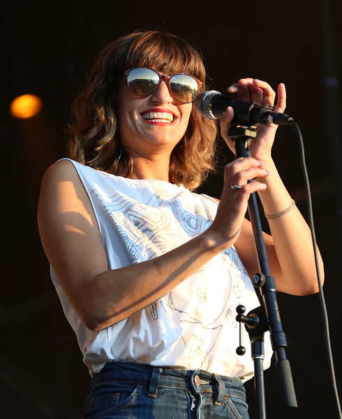Martina Sorbara of the band Dragonette is seen here performing at the RBC Royal Bank Bluesfest in Ottawa on Thursday, July 5, 2012. The Ottawa Bluesfest is ranked as one of the most successful music events in North America. The Canadian Press Images PHOTO/Ottawa Bluesfest/Patrick Doyle.