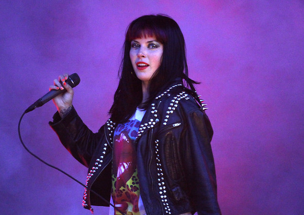 Alexis Krauss of Sleigh Bells is seen here performing at the RBC Royal Bank Bluesfest in Ottawa on Friday, July 6, 2012. The Ottawa Bluesfest is ranked as one of the most successful music events in North America. The Canadian Press Images PHOTO/Ottawa Bluesfest/Patrick Doyle.