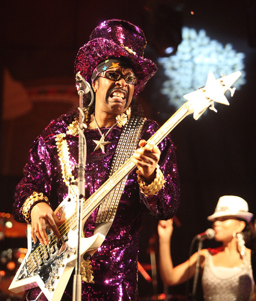 Bootsy Collins performs at the Cisco Ottawa Bluesfest on Tuesday, July 5, 2011. The Ottawa Bluesfest is ranked as one of the most successful music events in North America. The Canadian Press Images PHOTO/Ottawa Bluesfest/Patrick Doyle.