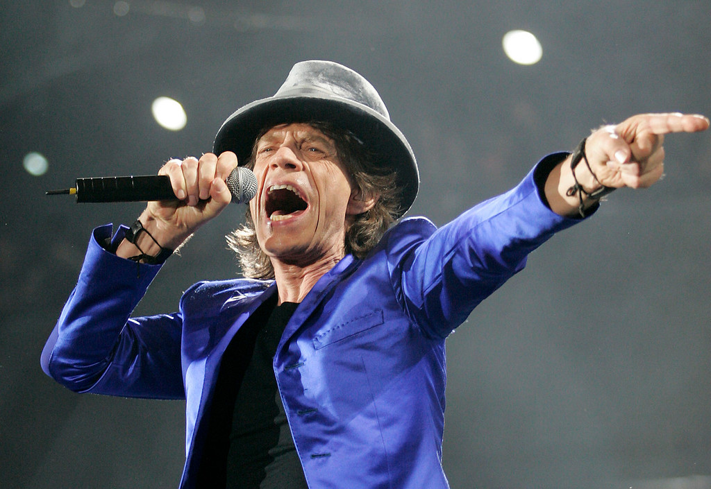 Mick Jagger and The Rolling Stones perform in Ottawa, August 28, 2005. Photo by Patrick Doyle.