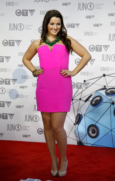 Alyssa Reid arrives at the 41st Juno Awards in Ottawa April 1, 2012. Photo by Patrick Doyle.