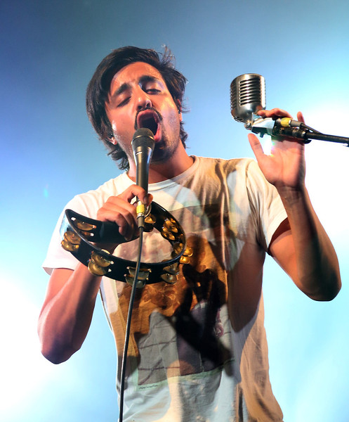 Sameer Gadhia of the band Young the Giant is seen here performing at the RBC Royal Bank Bluesfest in Ottawa on Friday, July 13, 2012. The Ottawa Bluesfest is ranked as one of the most successful music events in North America. The Canadian Press Images PHOTO/Ottawa Bluesfest/Patrick Doyle.