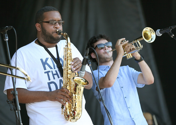 Rajiv Halim (L) and Nico Segal of the band Kids These Days perform at the Cisco Ottawa Bluesfest on Saturday, July 16, 2011. The Ottawa Bluesfest is ranked as one of the most successful music events in North America. The Canadian Press Images PHOTO/Ottawa Bluesfest/Patrick Doyle.