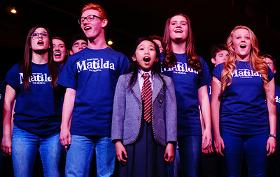 Matilda performed during the Zions Bank Broadway at the Eccles launch event in Salt Lake City, Utah on Thursday, Mar. 3, 2016.