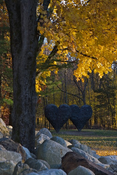Two Big Black Hearts by Jim Dine